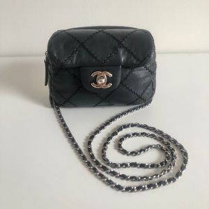 Chanel matelasse mini flap bag / wallet on chain